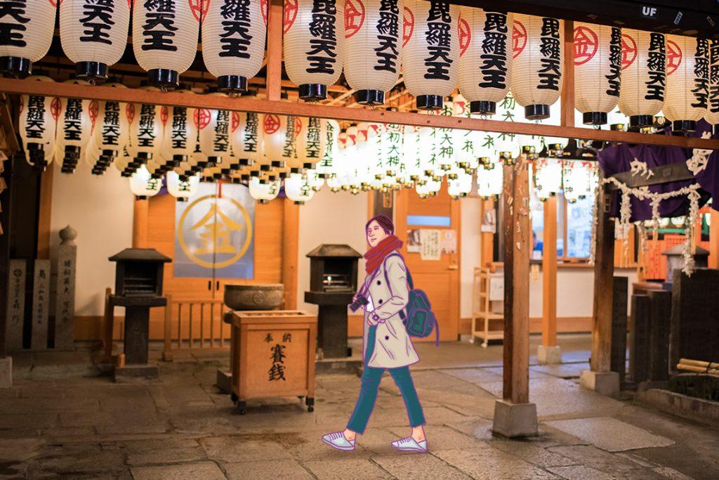 Kuil Hozen-Ji, salah satu kuil terkenal di Osaka