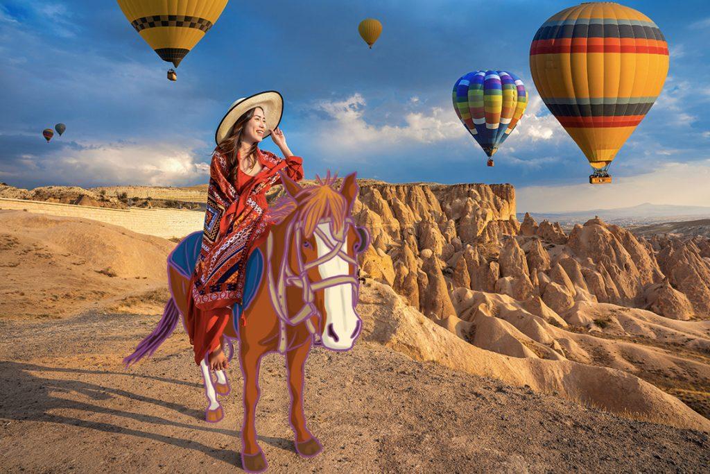 Cantiknya Cappadocia, yang arti nama kotanya merupakan tanah kuda cantik