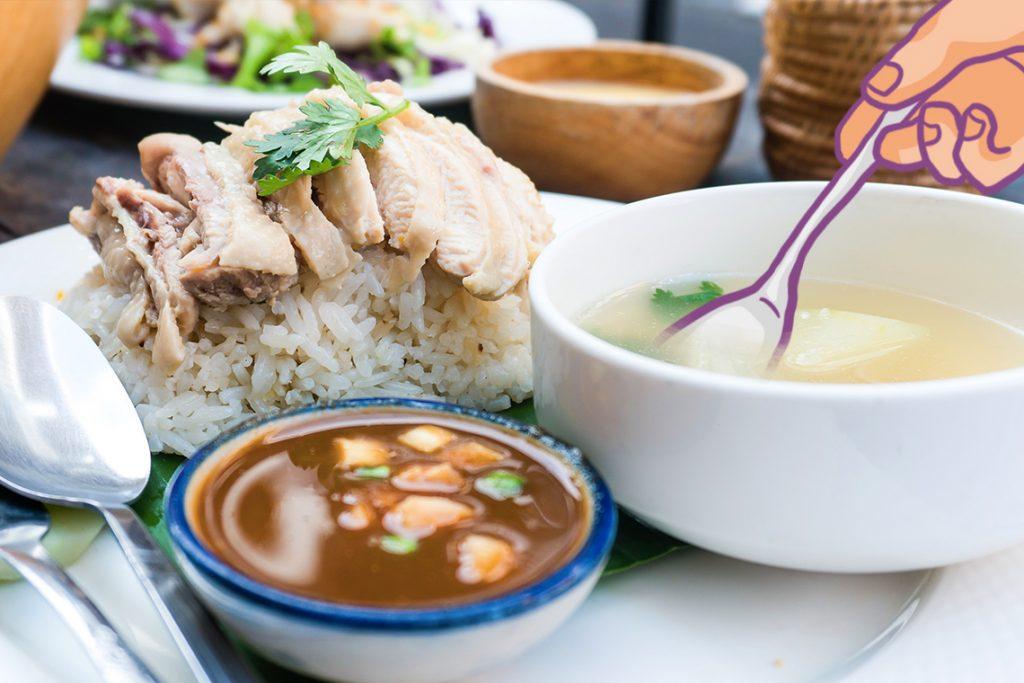 Menu berbuka puasa yang sehat dengan nasi ayam Hainan