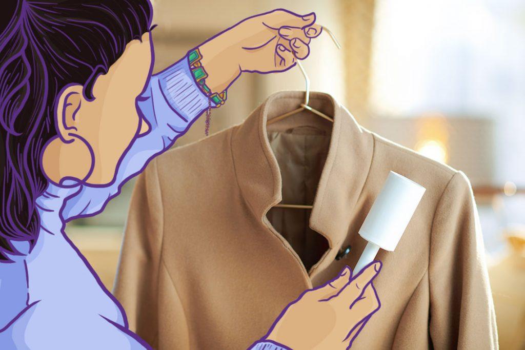 Bersihkan pakaian musim dingin sebelum disimpan.