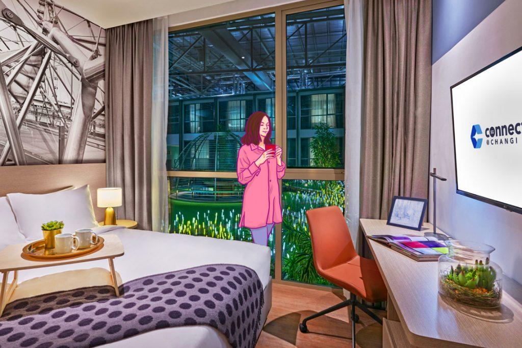 Salah satu pilihan kamar yang ada di Connect@Changi